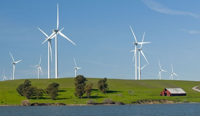 Power generation is blowing in the wind