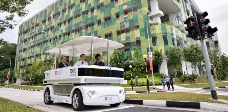Singapore's first driverless vehicle on the roads