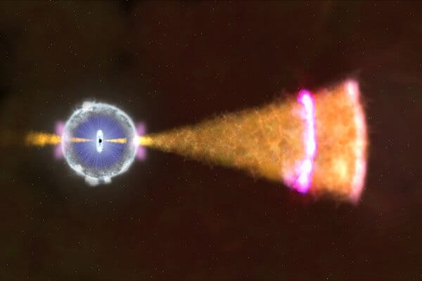 High-energy gamma ray burst could re-shape astrophysics theories