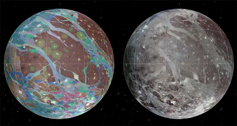 First Global Geologic Map of Largest Moon in the Solar System Details an Icy World