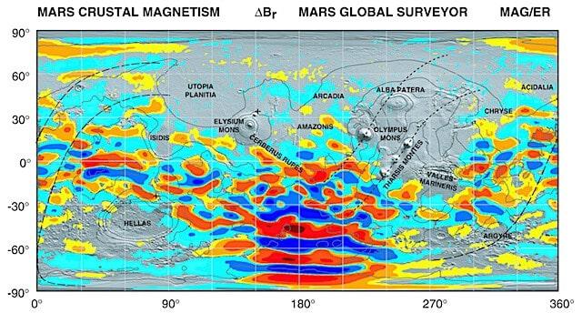 Mars ionosphere shaped by crustal magnetic fields