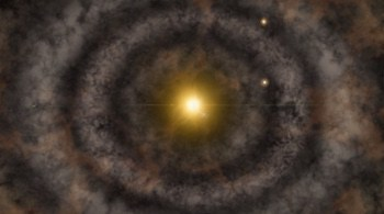Rings around young star suggest planet formation in progress