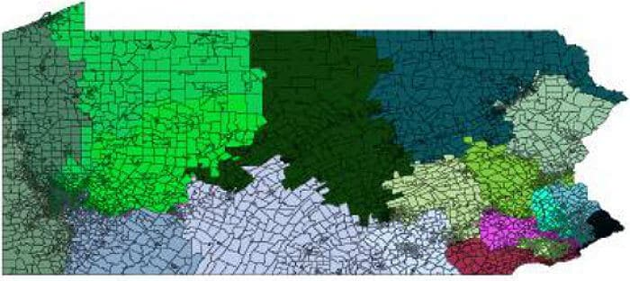 Mathematical theorem finds gerrymandering in Pennsylvania congressional district maps