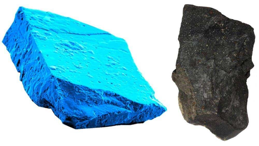 Blue crystals in meteorites show that sun behaved like 'high-energy toddler'