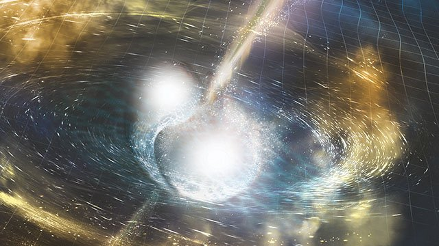 Afterglow sheds light on the nature, origin of neutron star collisions