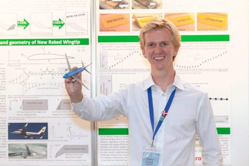 Wing tip device for cleaner aviation wins 2019 EU young scientist prize