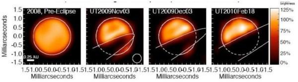 Interferometrische Aufnahmen im Infratroten von ε Aurigae vor und während der Bedeckung 2009-2011.