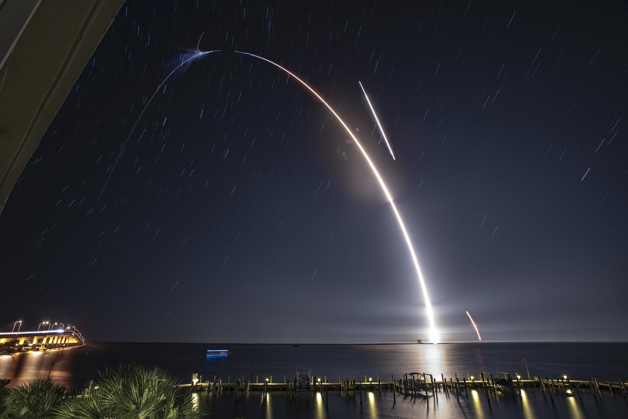 Satelliten In Reihe