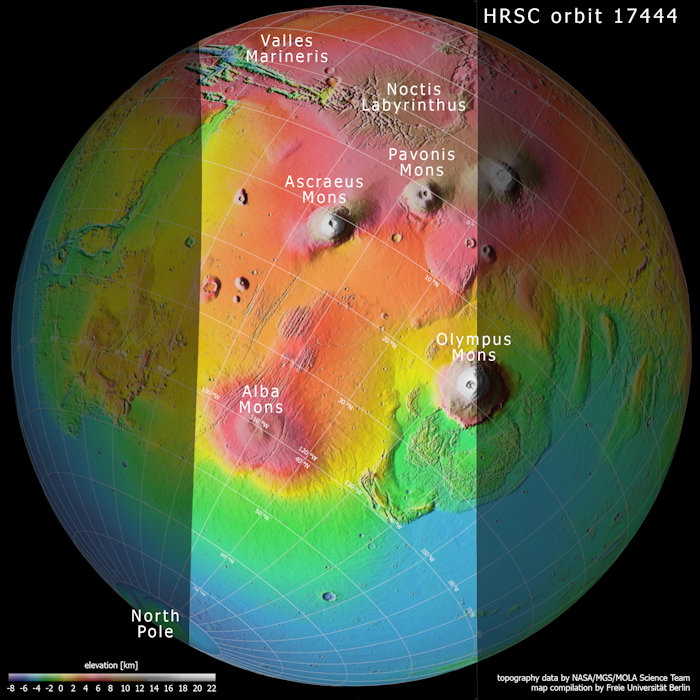 Topography_of_Tharsis_region_on_Mars