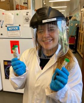 Fabiola Aviles in the SRD Lab