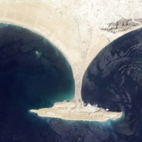 Island appears after the earthquake. Image taken by NASA's Earth Observing-1 satellite ( Sept. 26, 2013).
