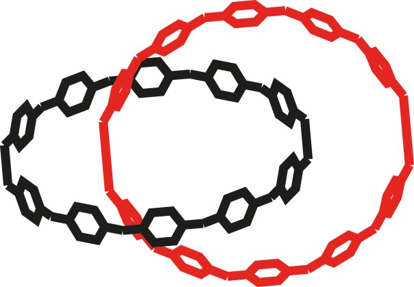Figure 1. Catenanes are mechanically-interlocked molecular complexes, whose components cannot be separated without breaking a covalent bond.