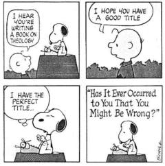 snoopy on theology