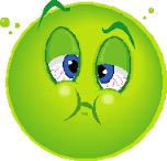 feel sick emoticon 2