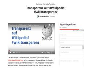 Wikipedia Anonymitaet Petition