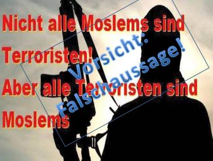 Terrorismus Unsinn