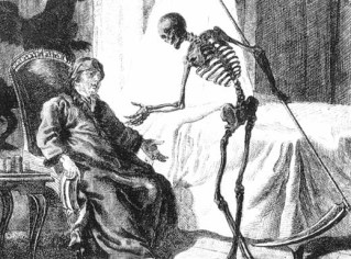 Grim Reaper sitting