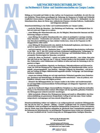 Landauer Manifest