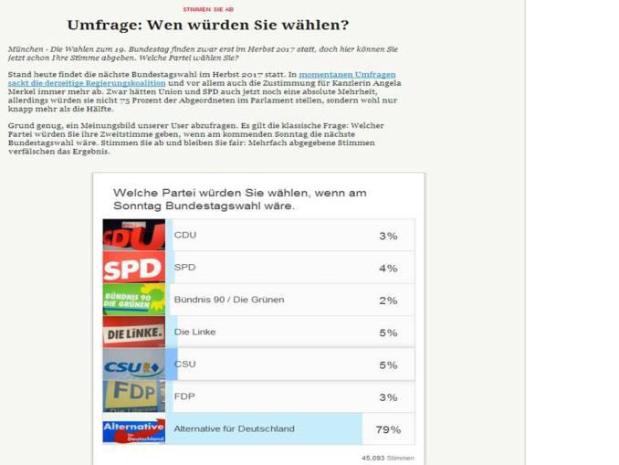 Merkur AfD umfrage