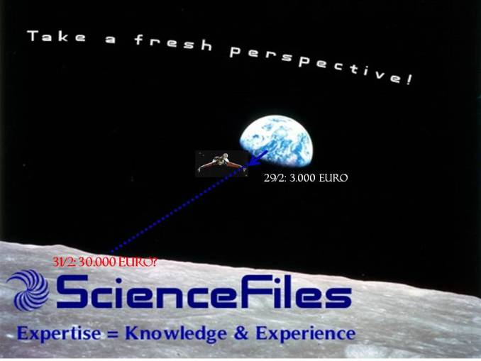 ScienceFiles Spendenstand