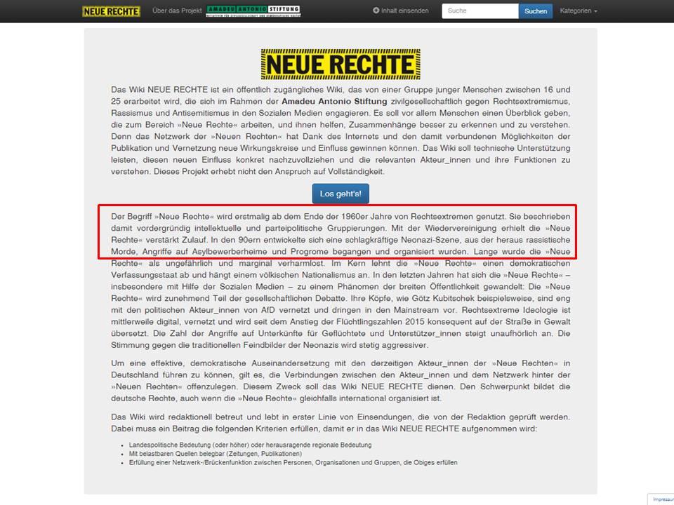 Neue Denunziantenkultur: Amadeu-Antonio-Stiftung erstellt wohl ...