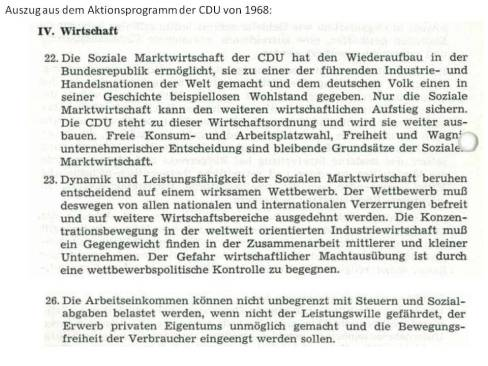 Aktionsprogramm CDU 1968