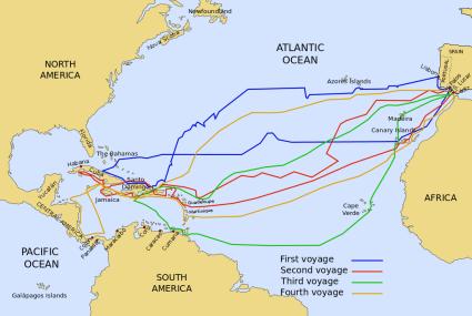 Reisen von Columbus