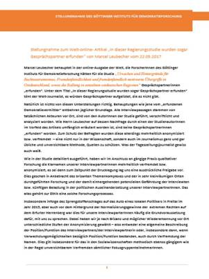 Goettingen Stellungnahme 1