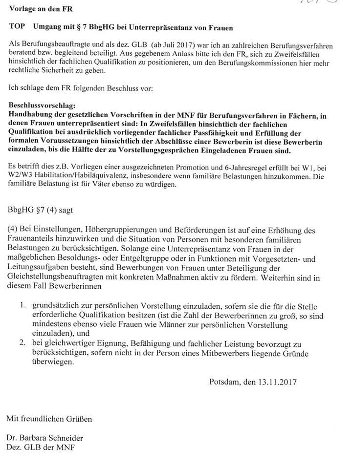 uni potsdam gender trash - Potsdam Uni Bewerbung