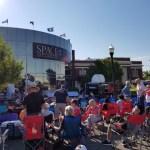 Solar eclipse crowd in Idaho Falls