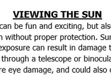 Safe Sun Viewing Handout
