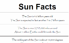 Sun Facts Fan