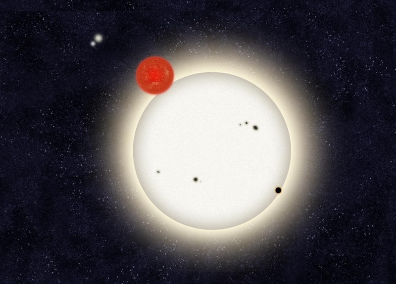 Planet With Four Suns Discovered, Circumbinary Planet In Quadruple Star System