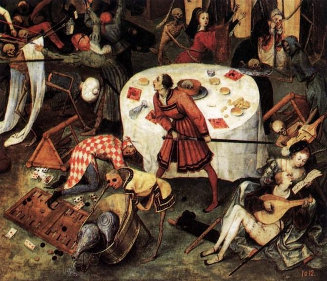 Triumph of death painting Bruegel detail