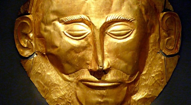 gold deathmask