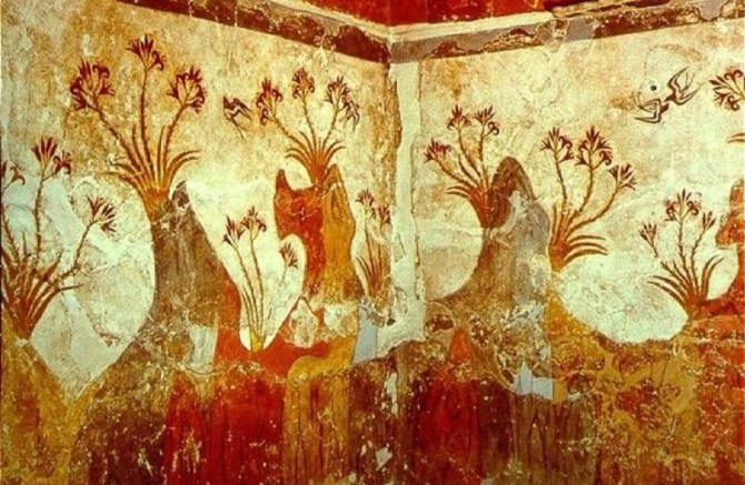 Mycenaean Fresco Plants