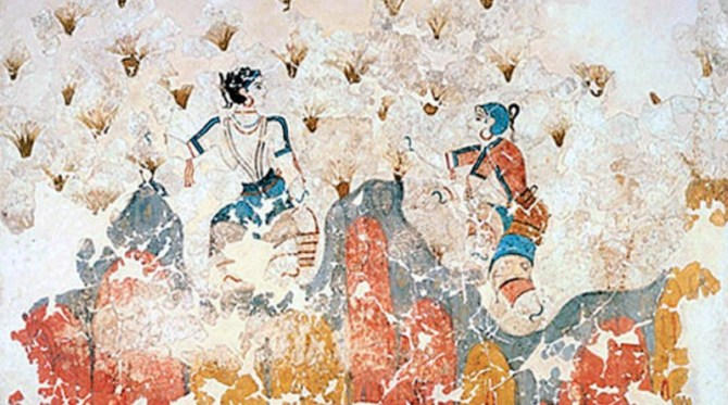 Mycenaean Fresco women