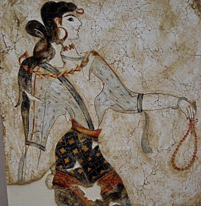 Mycenaean Fresco woman