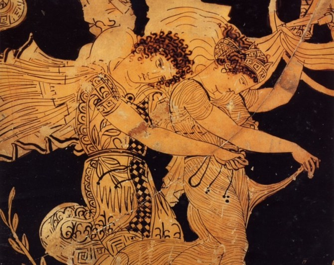 Ancient Greek art vase