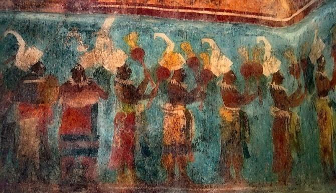 Olmec mural