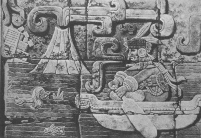 Olmec collapse volcano