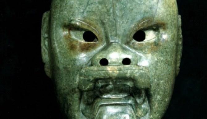 Olmec jaguar man mask