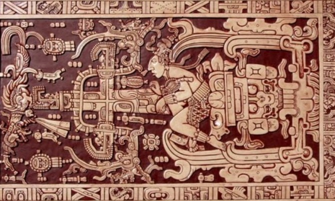 Maya art carving