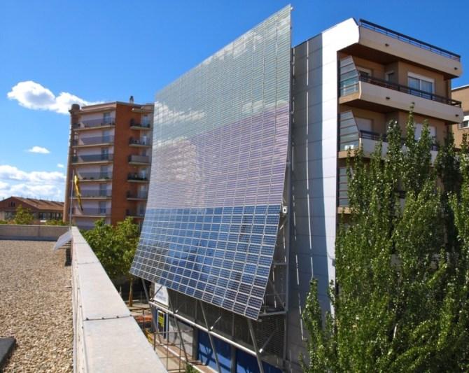 Solar PV building facade