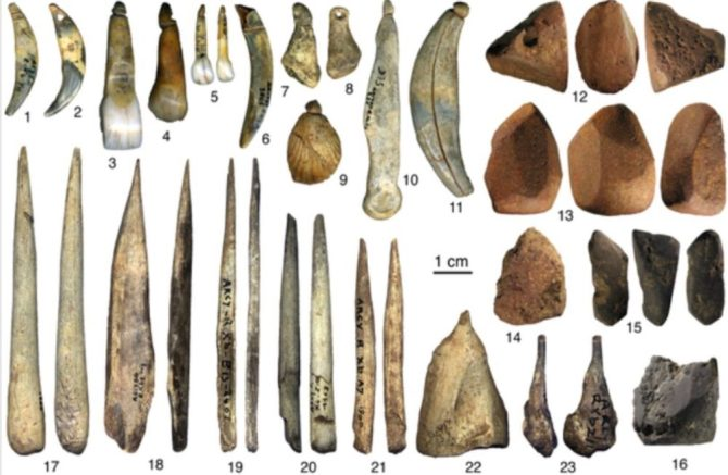 Tools and jewelry of Neanderthals