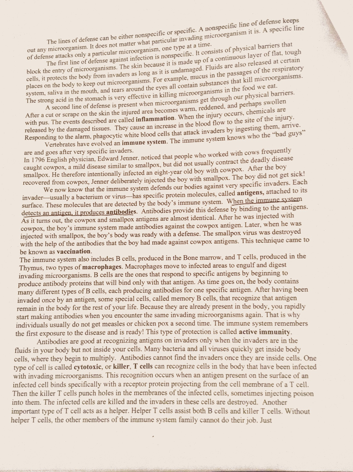 Immunity And Disease Worksheet 2 Sciencehelpblog