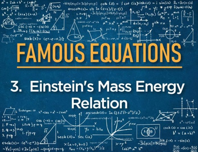 # 3 Einstein's Mass Energy Relation