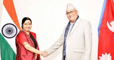 KP Oli and Sushma Swaraj