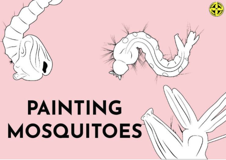 Painting mosquitoes poster