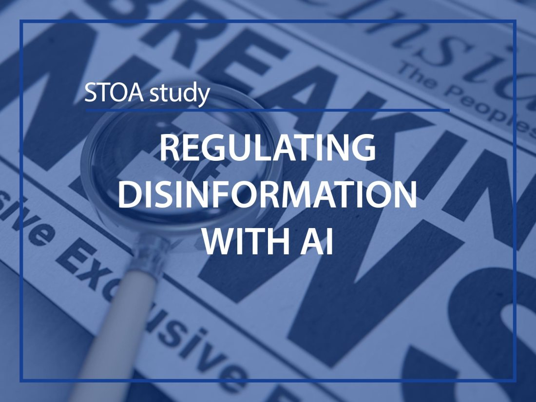 Regulating disinformation with AI, STOA Study for ESMH